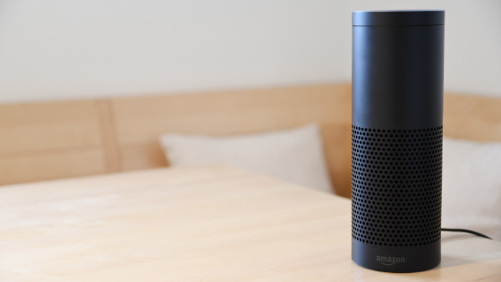 Amazon Alexa Echo on a table