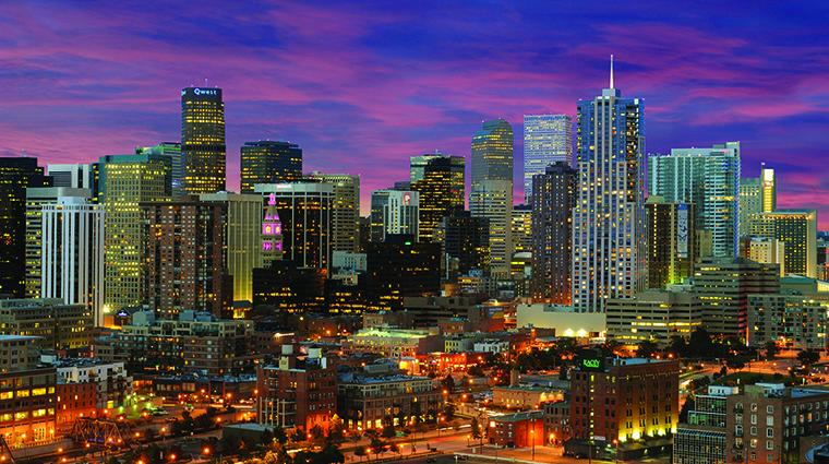 A big city at night