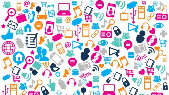 Social media and creativity icons