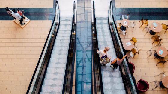 Mall stairways