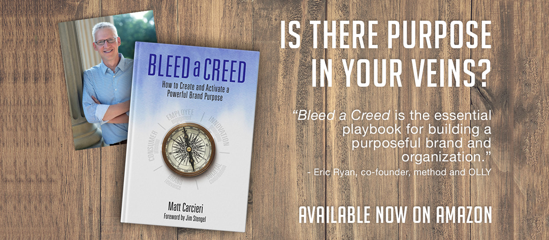 Is the purpose in your veins poster, bleed a creed book