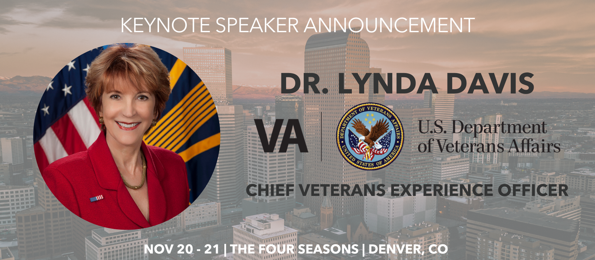 Dr Lynda Davis Us Department of Veteran Affairs Keynote Speaker Announcement