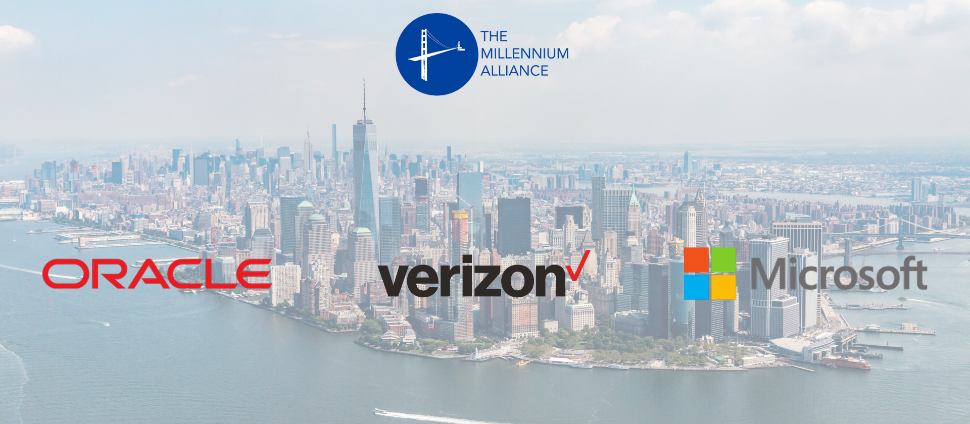 Millennium Alliance Partnerships Oracle Verizon Microsoft New York Skyline