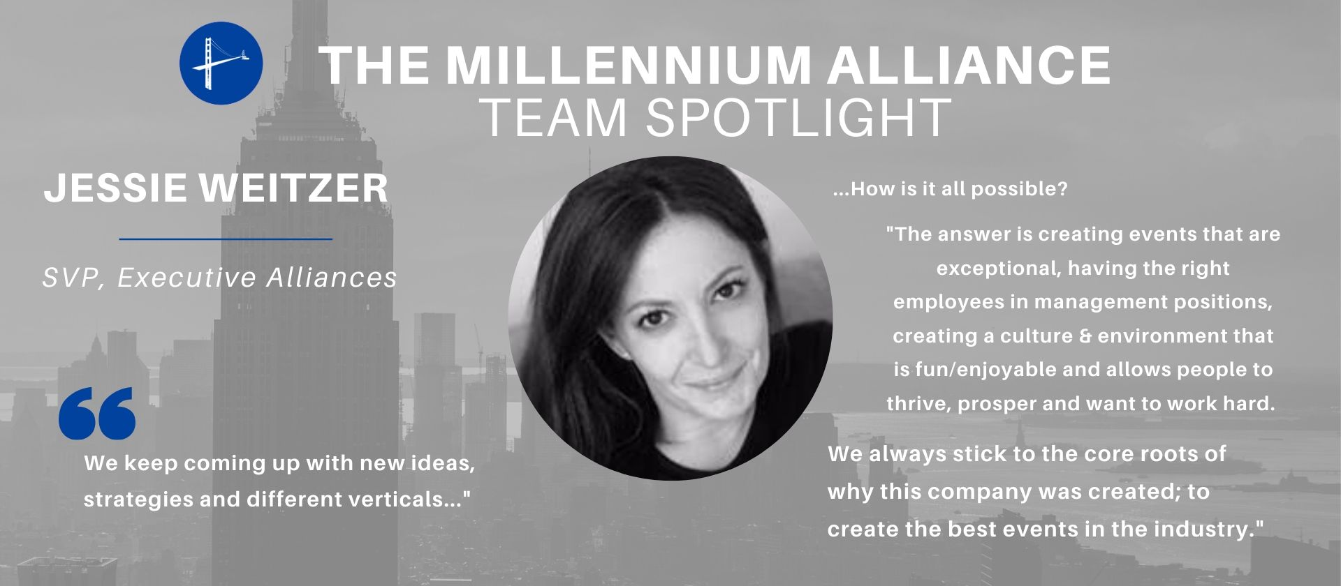 Team Spotlight Jessie Weitzer Millennium Alliance