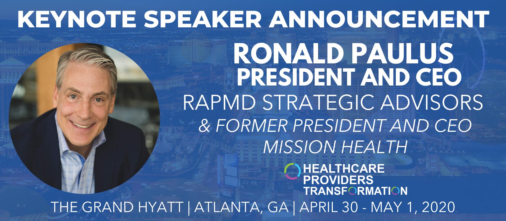 ronald paulus keynote speaker healthcare providers assembly