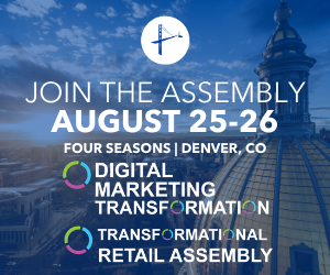 digital marketing and retail assembly event ad